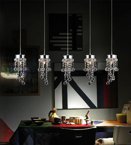 5 Light Multi Light Pendant with Chrome finish