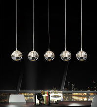 Load image into Gallery viewer, 5 Light Multi Light Pendant with Chrome finish