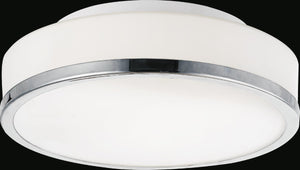 2 Light Drum Shade Flush Mount with Satin Nickel finish