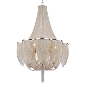 18 Light Down Chandelier with Chrome finish