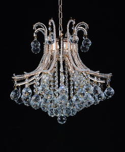 4 Light Down Chandelier with Chrome finish