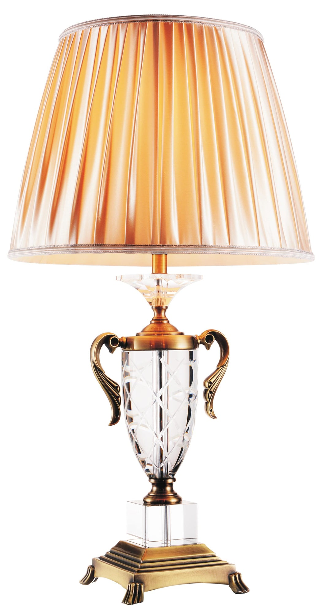 1 Light Table Lamp with Antique Brass finish