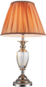 1 Light Table Lamp with Satin Nickel finish