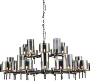 30 Light Up Chandelier with Pearl Black finish