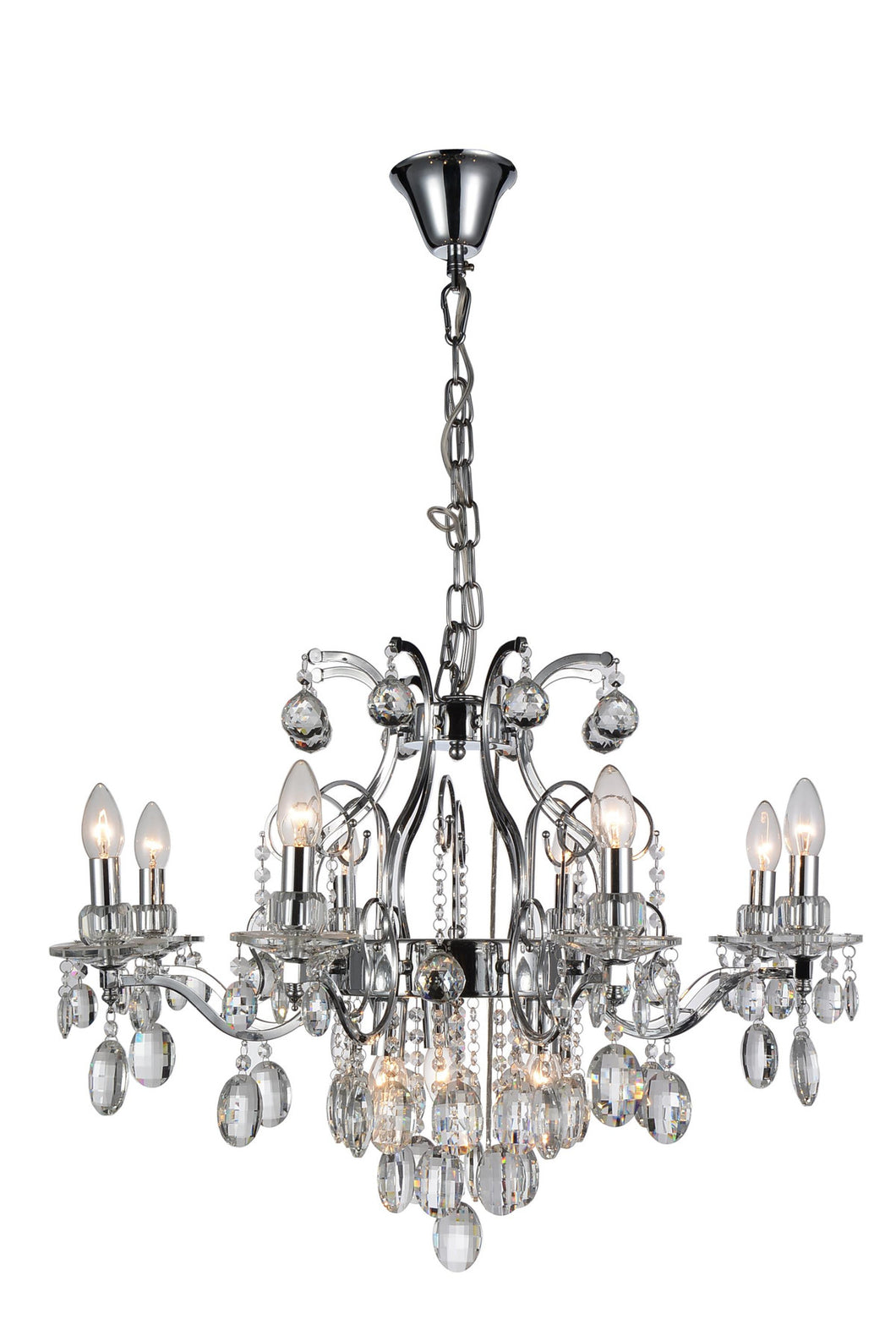 11 Light Up Chandelier with Chrome finish