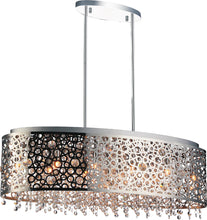Load image into Gallery viewer, 11 Light Drum Shade Chandelier with Chrome finish