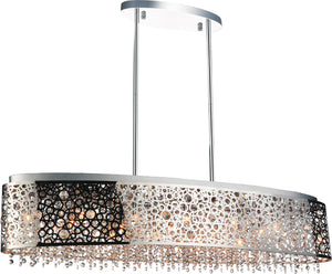 16 Light Drum Shade Chandelier with Chrome finish