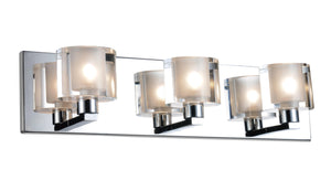 3 Light Wall Sconce with Satin Nickel finish