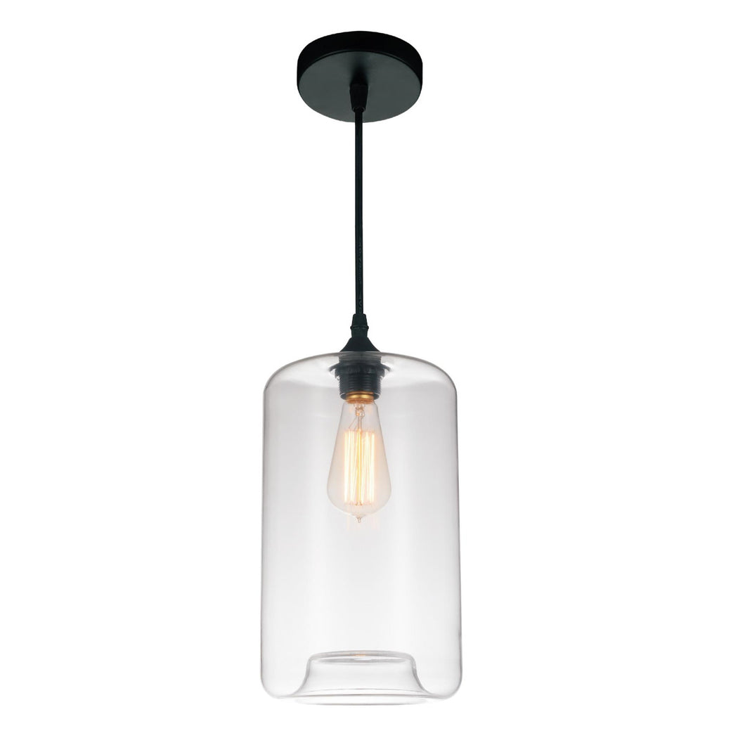 1 Light Down Mini Pendant with Clear finish