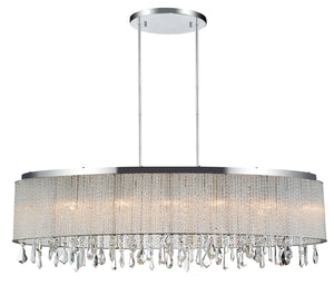 7 Light Drum Shade Chandelier with Chrome finish