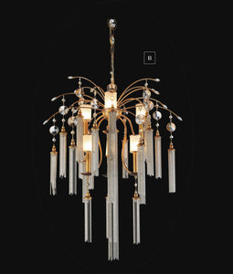 7 Light Down Chandelier with French Gold finish