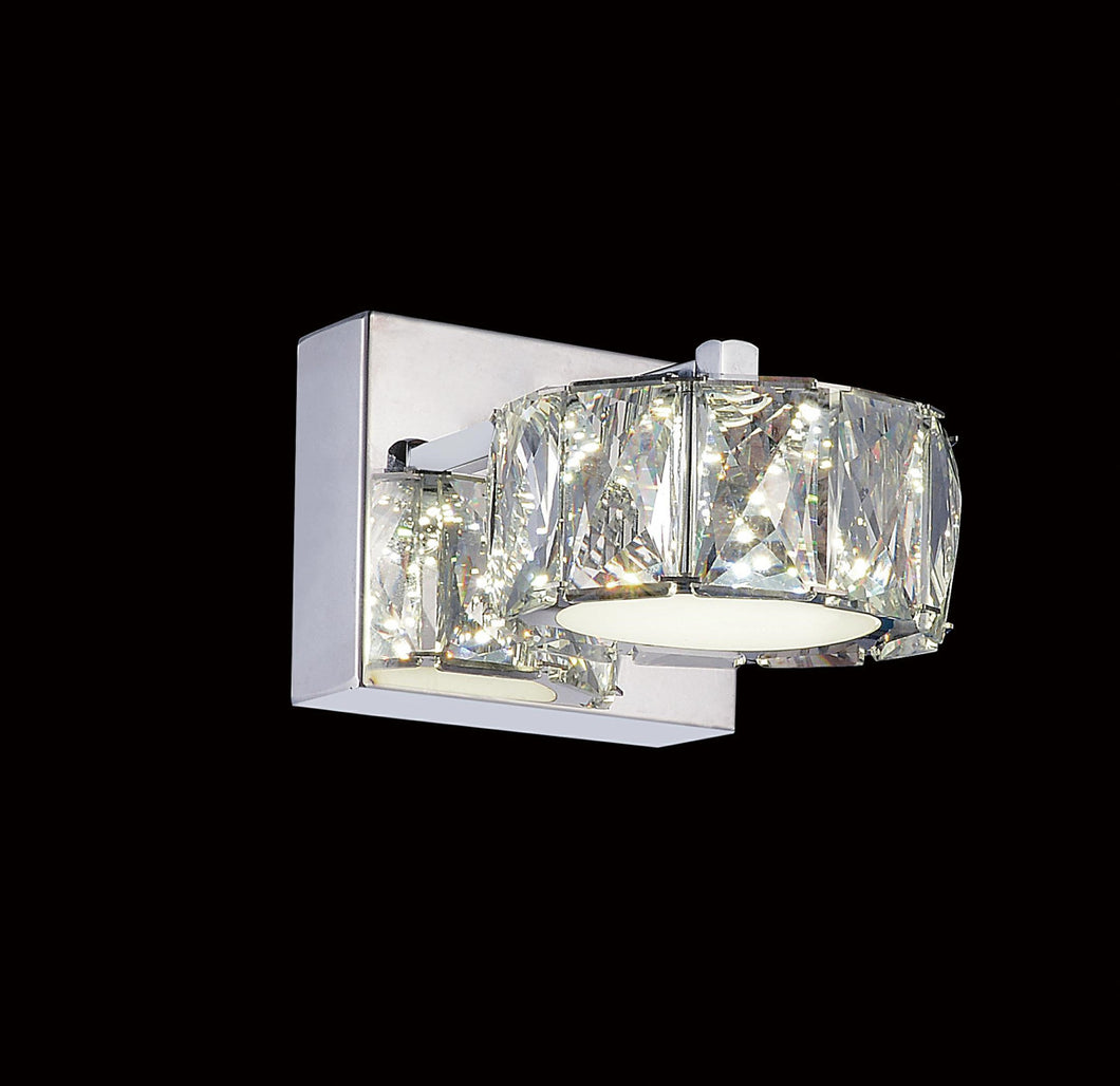 LED Bathroom Sconce with Chrome finish