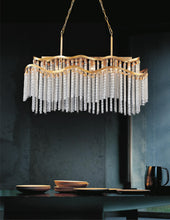 Load image into Gallery viewer, 12 Light Down Chandelier with Gold finish