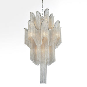 16 Light Down Chandelier with Chrome finish