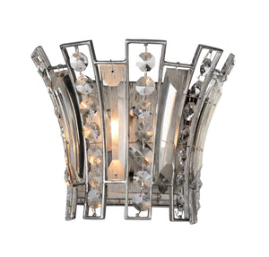 1 Light Wall Sconce with Antique Forged Silver finish