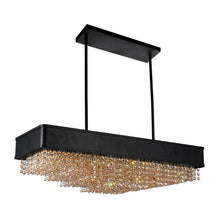 Load image into Gallery viewer, 10 Light Drum Shade Chandelier with Black finish