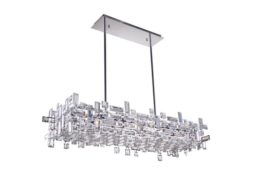 12 Light Island Chandelier with Chrome finish