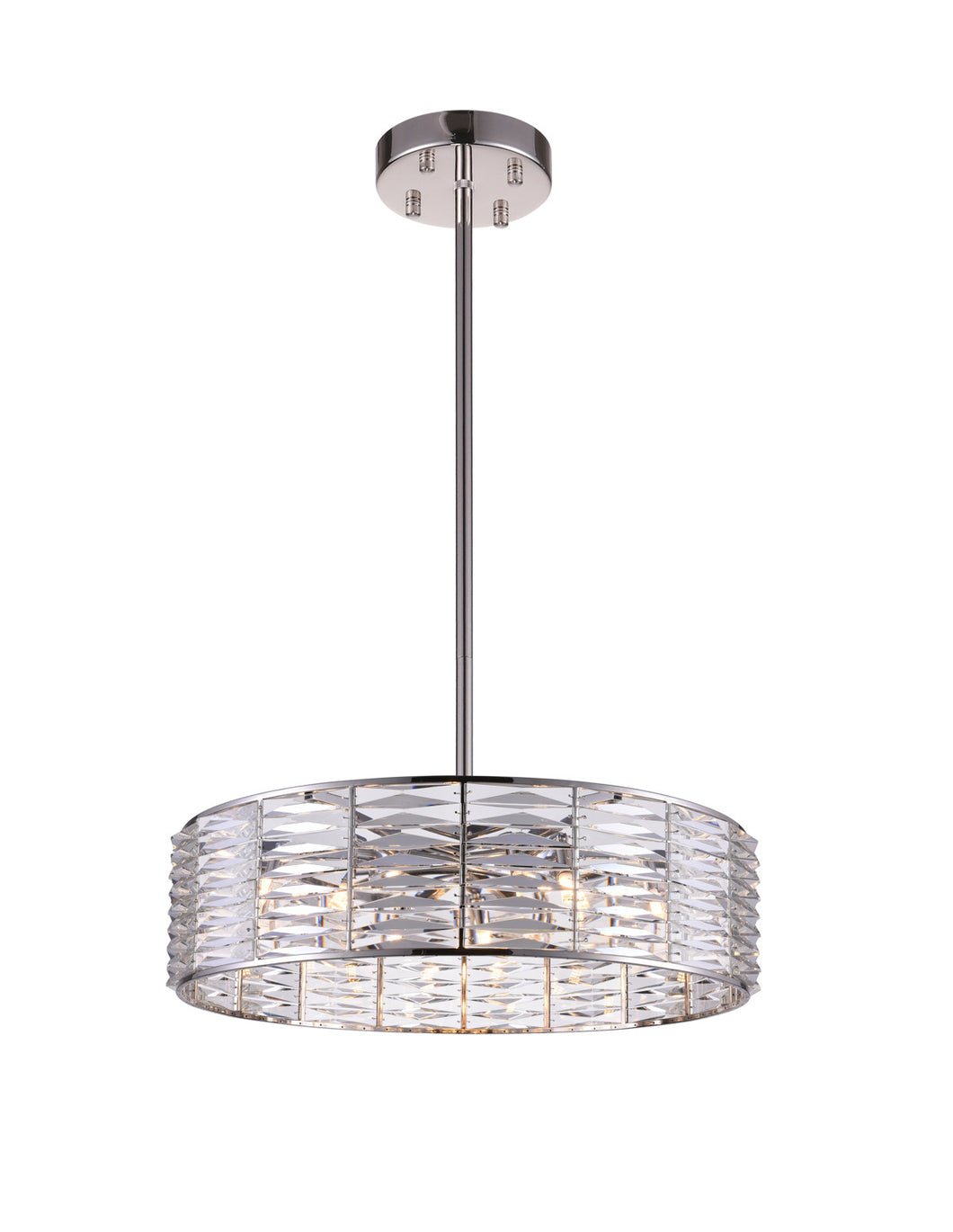 12 Light Down Chandelier with Bright Nickel finish