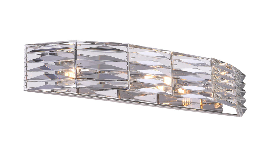 3 Light Vanity Light with Bright Nickel finish