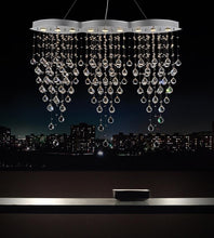 Load image into Gallery viewer, 9 Light Down Chandelier with Chrome finish