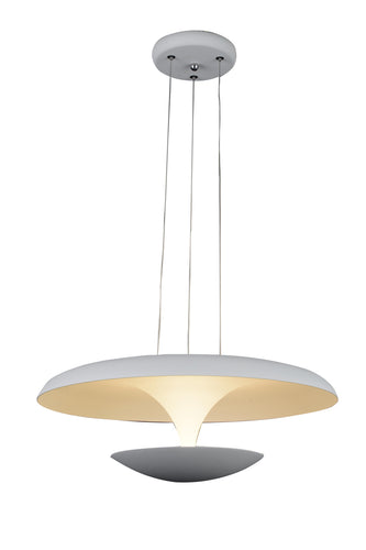 LED Down Pendant with White finish