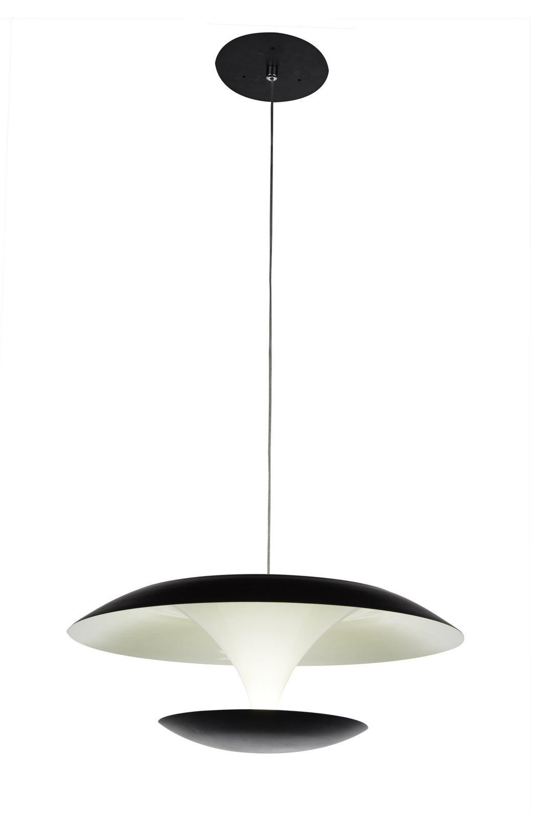 LED Down Pendant with Black & White finish