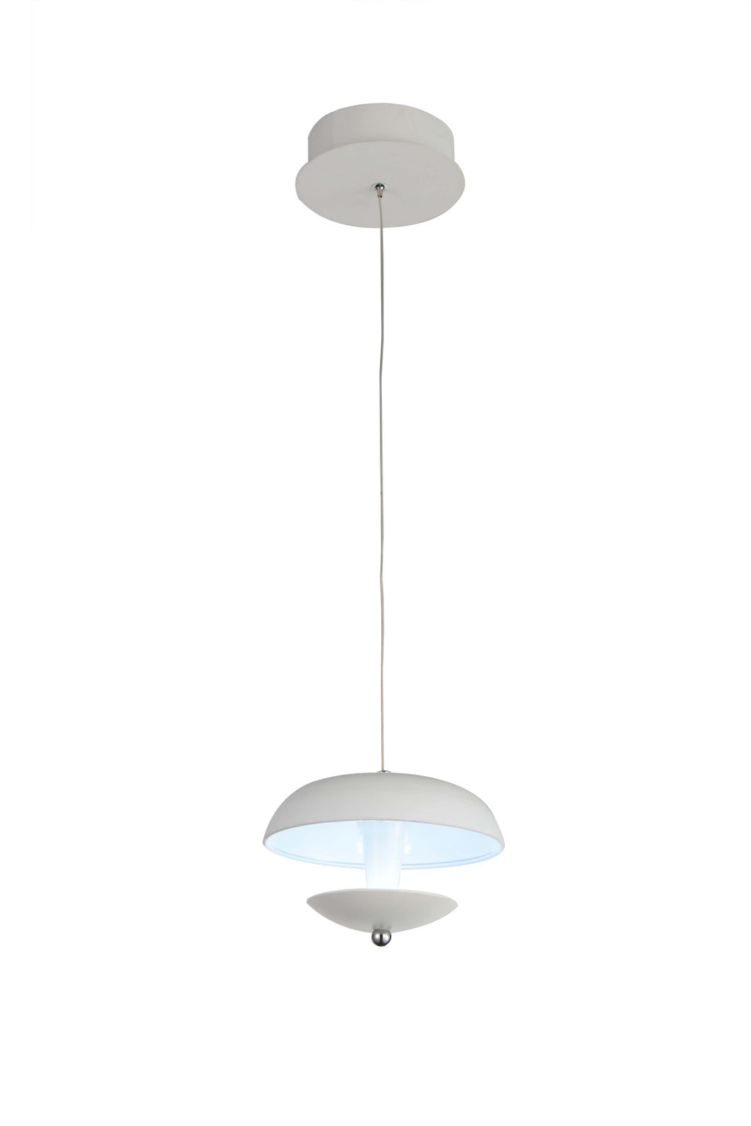 LED Down Mini Pendant with White finish