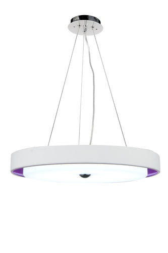 LED Drum Shade Pendant with Black & White finish