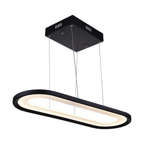 LED Island Chandelier with Black finish