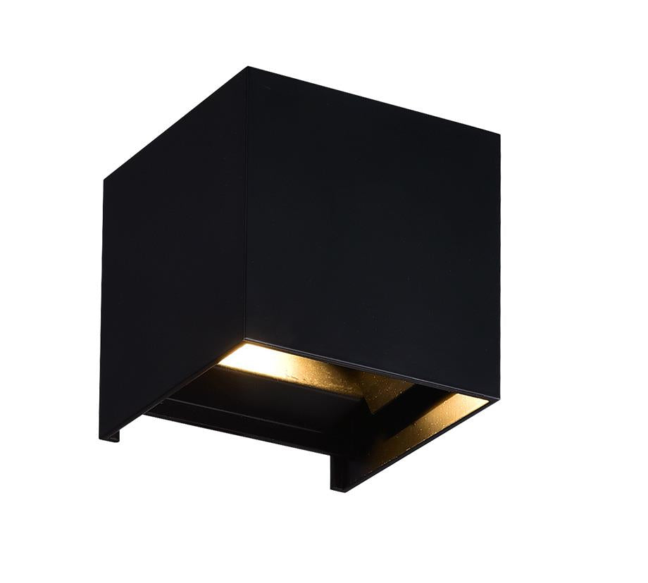 LED Wall Sconce with Black Finish