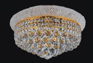 8 Light  Flush Mount with Gold finish