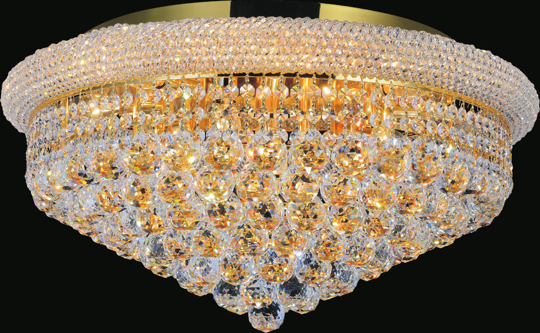 15 Light  Flush Mount with Gold finish