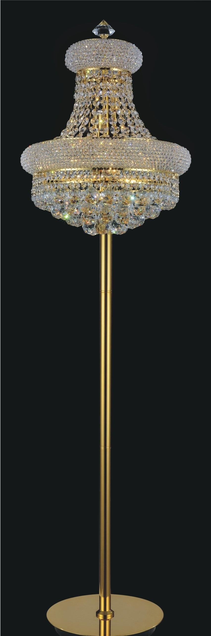 8 Light Floor Lamp with Gold finish