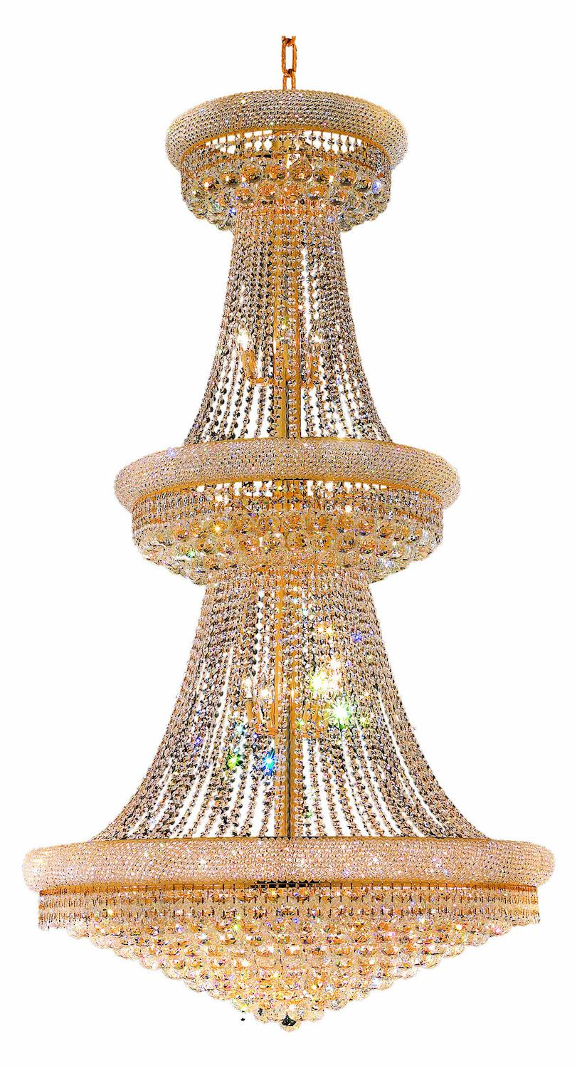 38 Light Down Chandelier with Gold finish