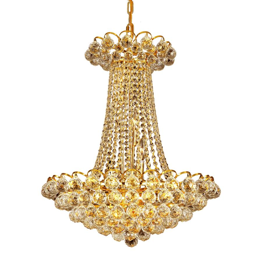11 Light Down Chandelier with Gold finish