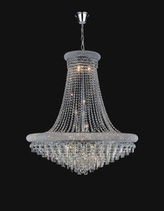 20 Light Down Chandelier with Chrome finish
