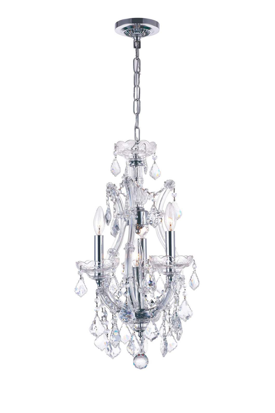 4 Light Up Mini Chandelier with Chrome finish