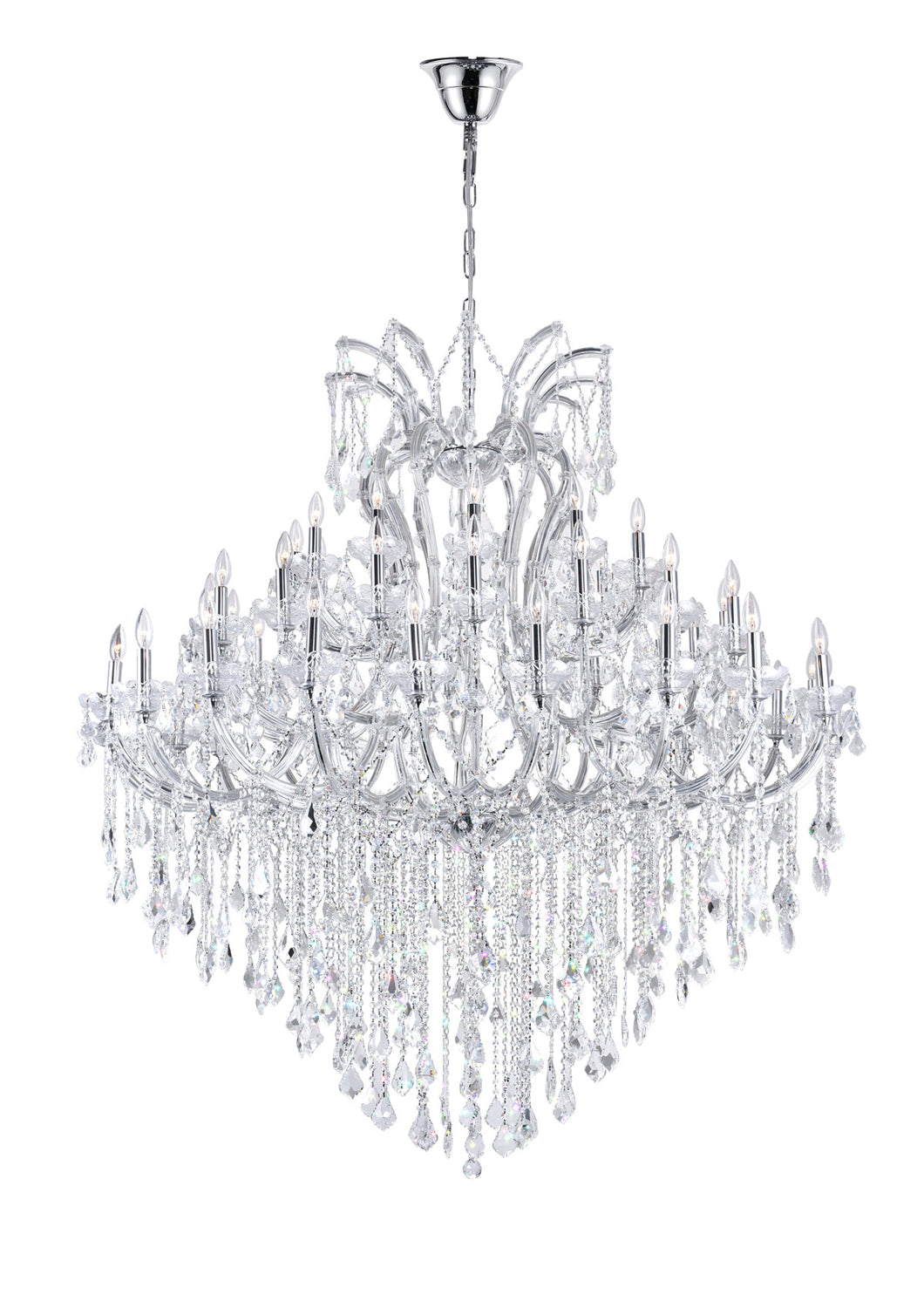 55 Light Up Chandelier with Chrome finish