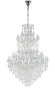 84 Light Up Chandelier with Chrome finish