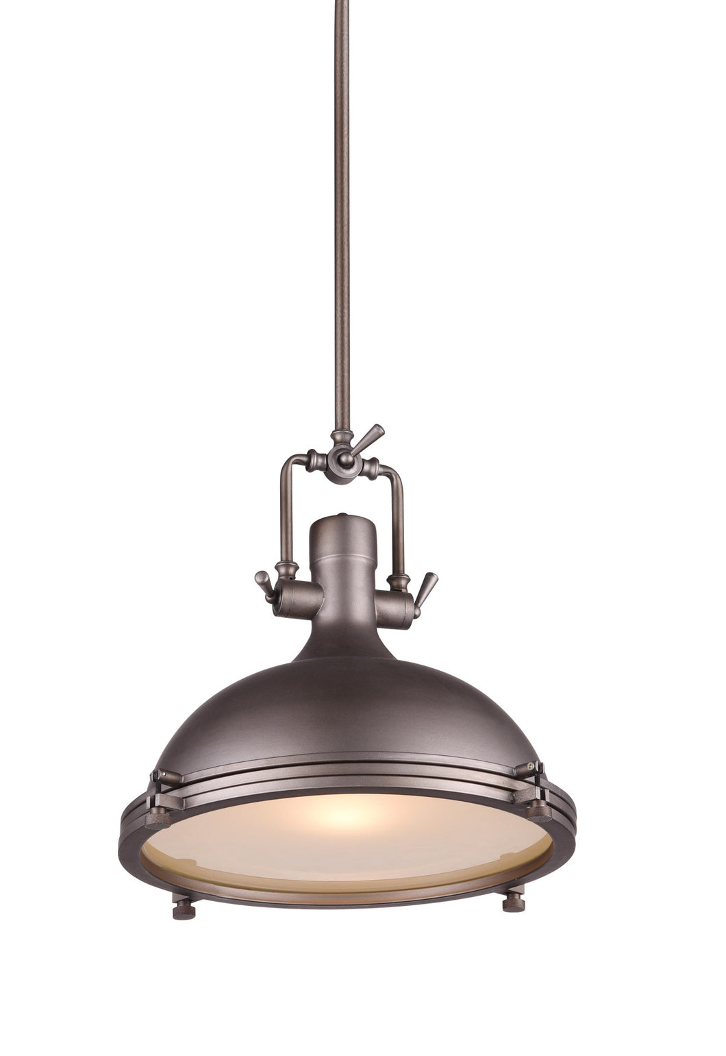 1 Light Down Pendant with Gray finish