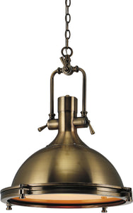 1 Light Down Pendant with Antique Bronze finish