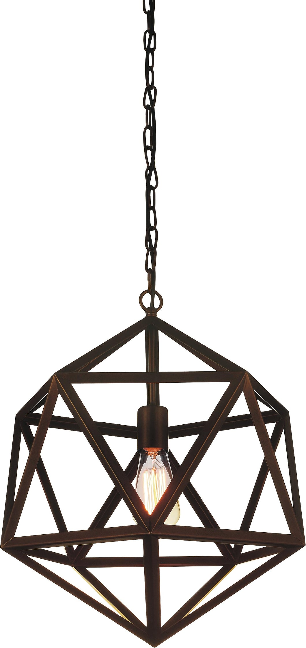 1 Light Down Mini Pendant with Antique Copper finish