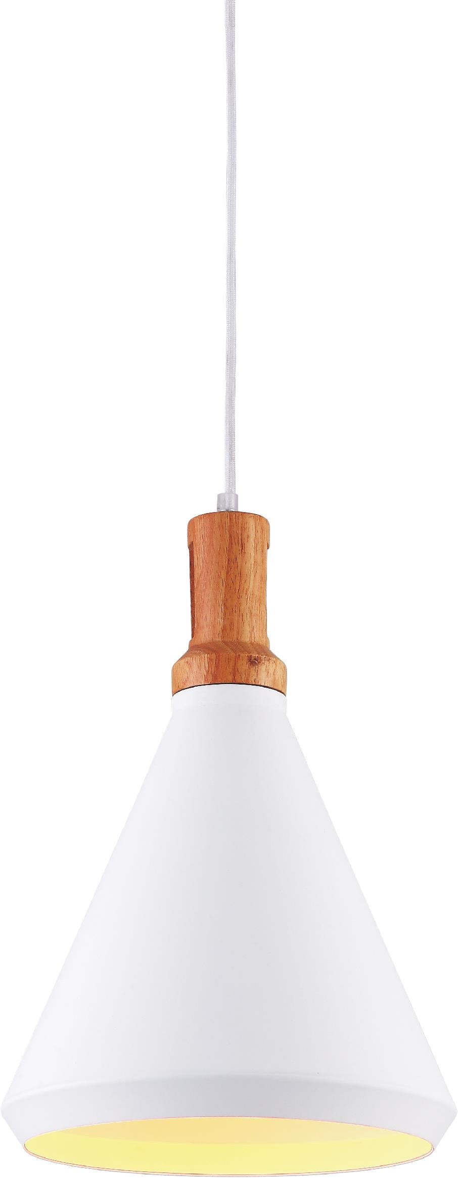 1 Light Down Mini Pendant with White finish