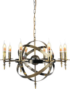 8 Light Up Chandelier with Antique Bronze finish