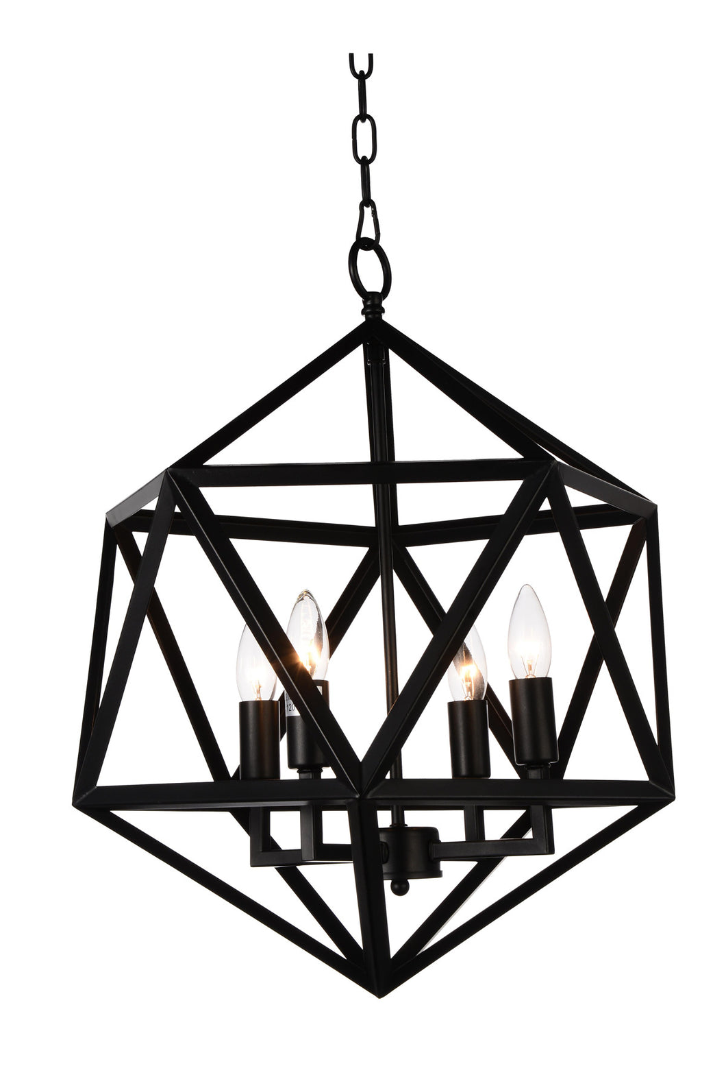 3 Light Up Pendant with Black finish