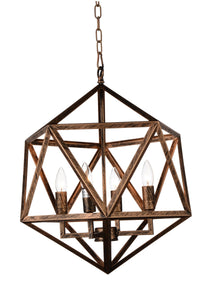 3 Light Up Pendant with Antique forged copper finish
