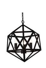 Load image into Gallery viewer, 4 Light Up Pendant with Black finish