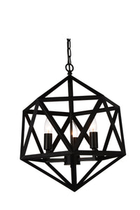 4 Light Up Pendant with Black finish