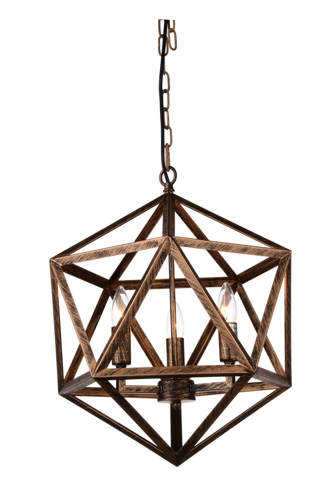 4 Light Up Pendant with Antique forged copper finish