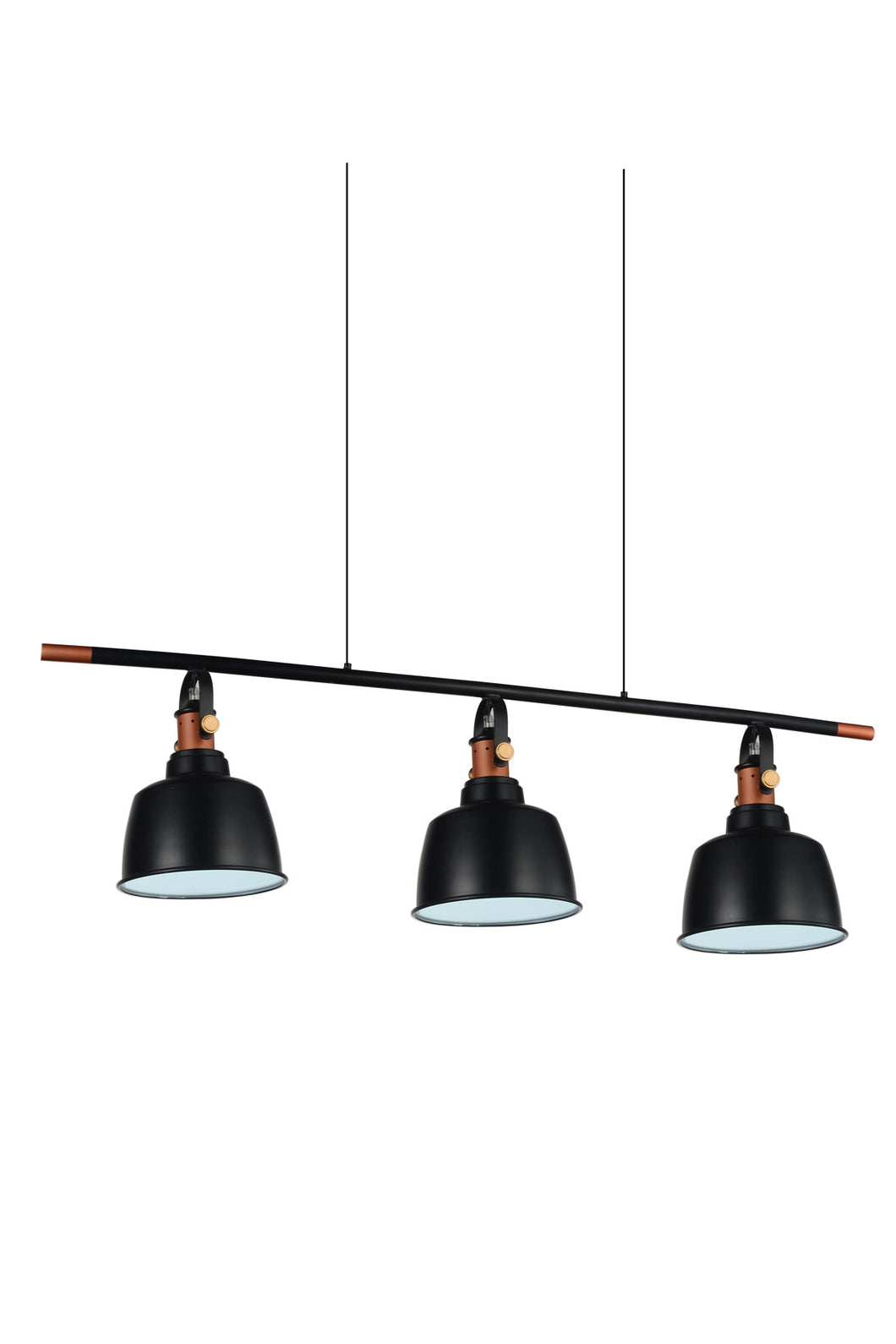 3 Light Pool Table Light with Black finish